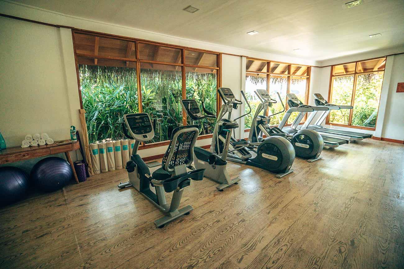 fitness center milaidhoo maldives