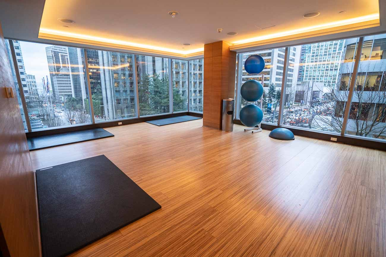 fitness center at shangri-la vancouver