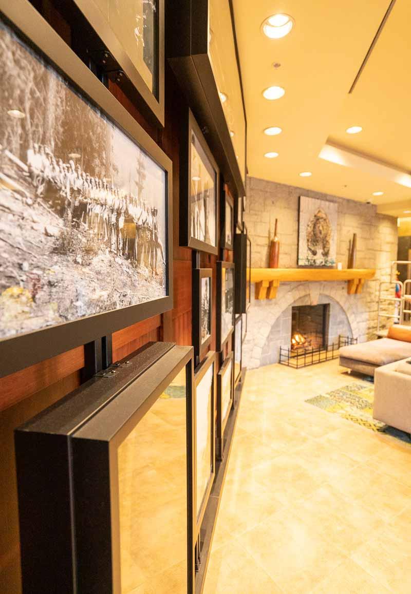 lobby at crystal lodge