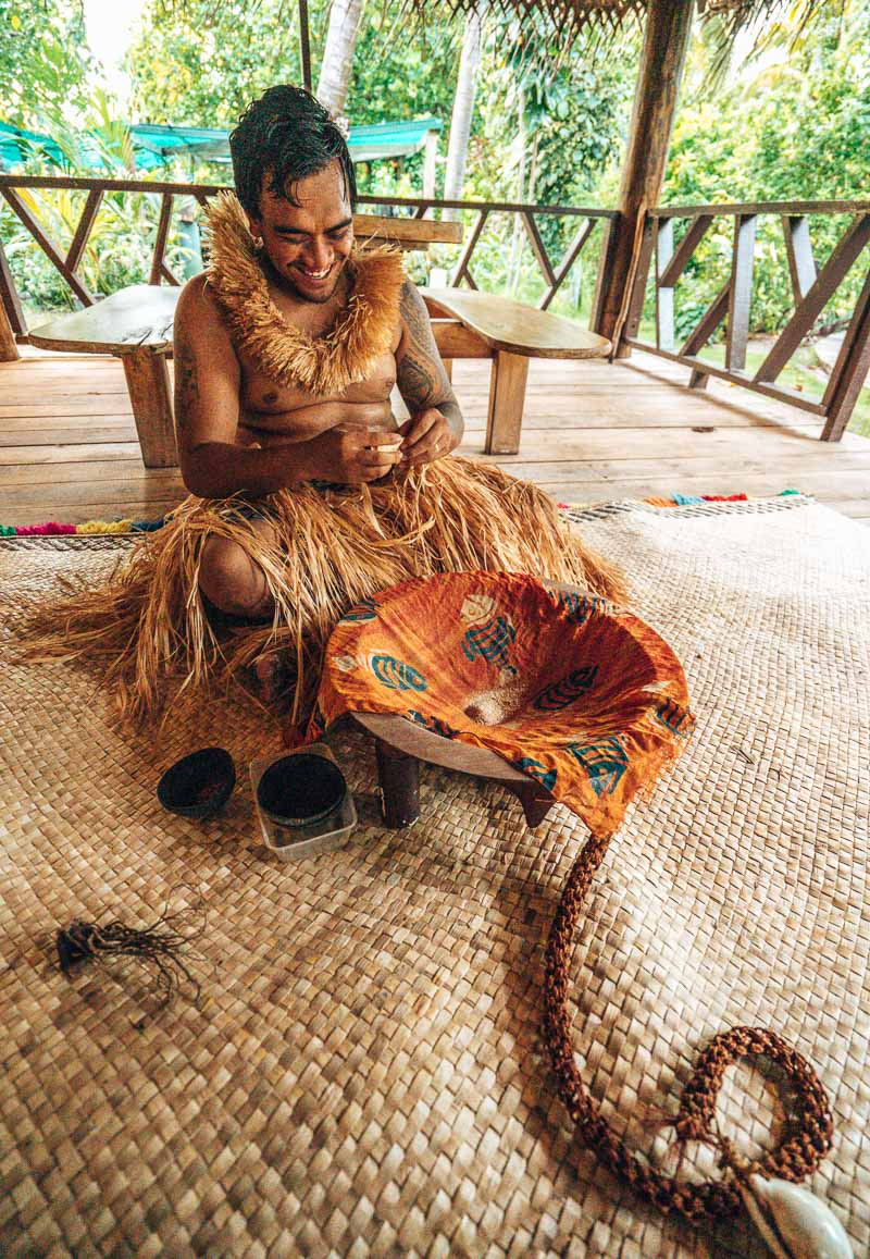 kava ceremony at serenity island
