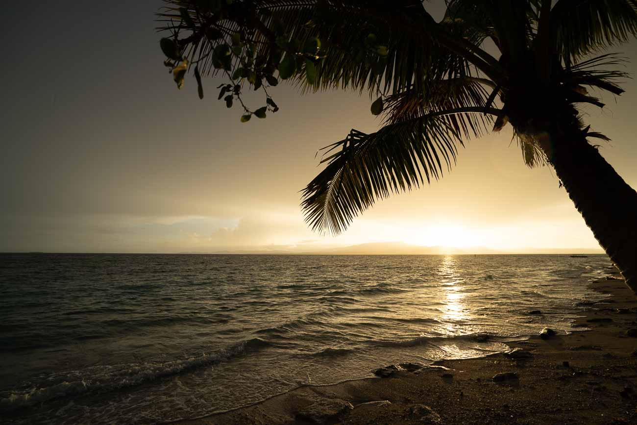 sunset at serenity island fiji