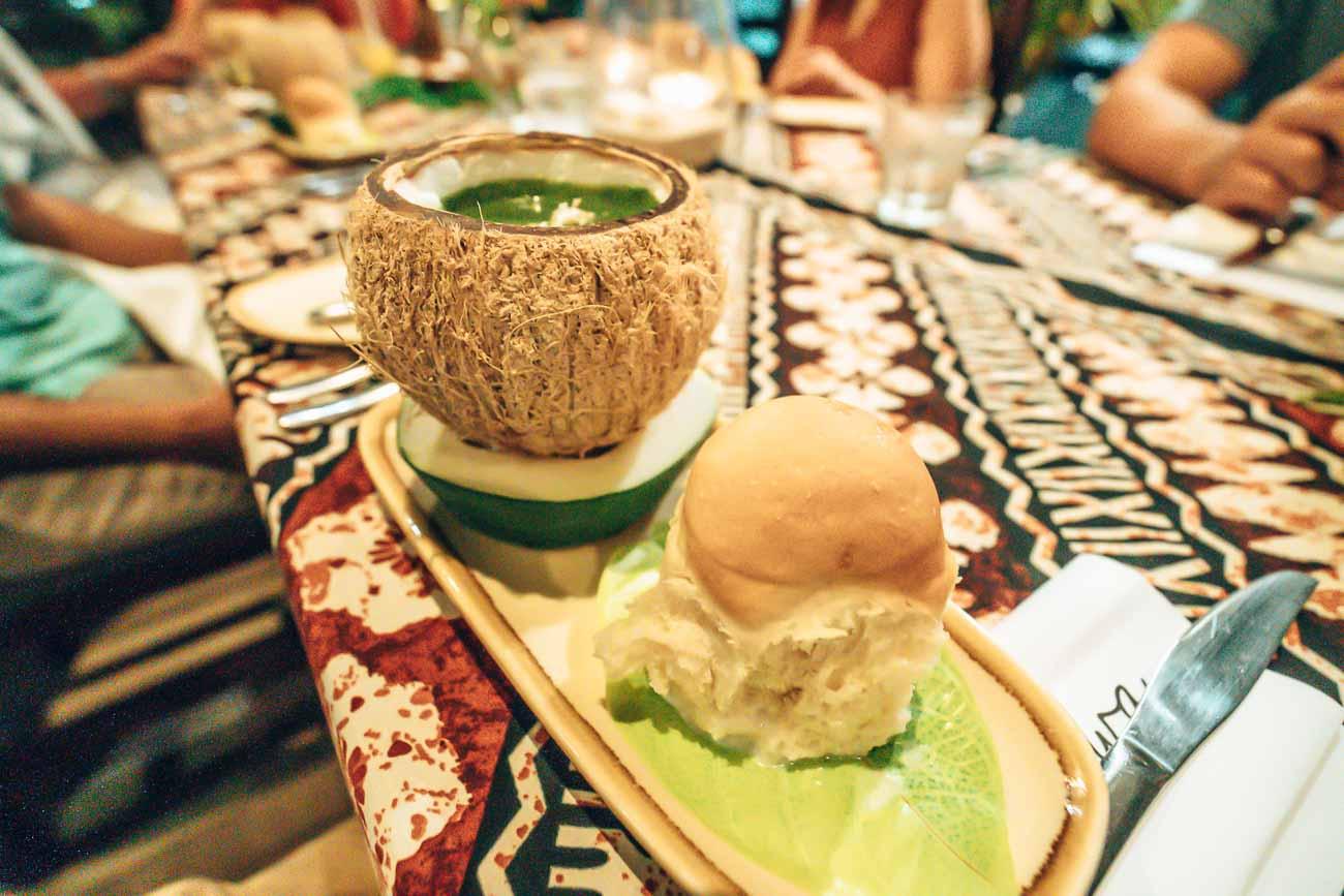 family style dinner Yasawa Island Resort
