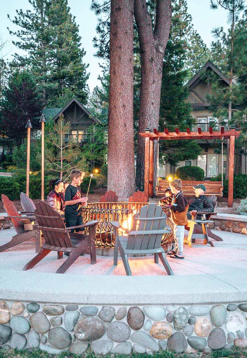 fire pit at Hyatt Regency Lake Tahoe