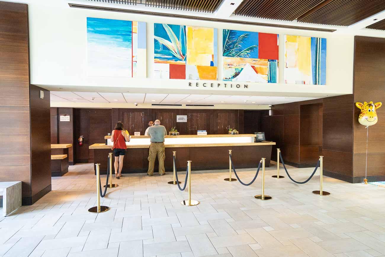 Lobby at Marriott Stellaris Aruba
