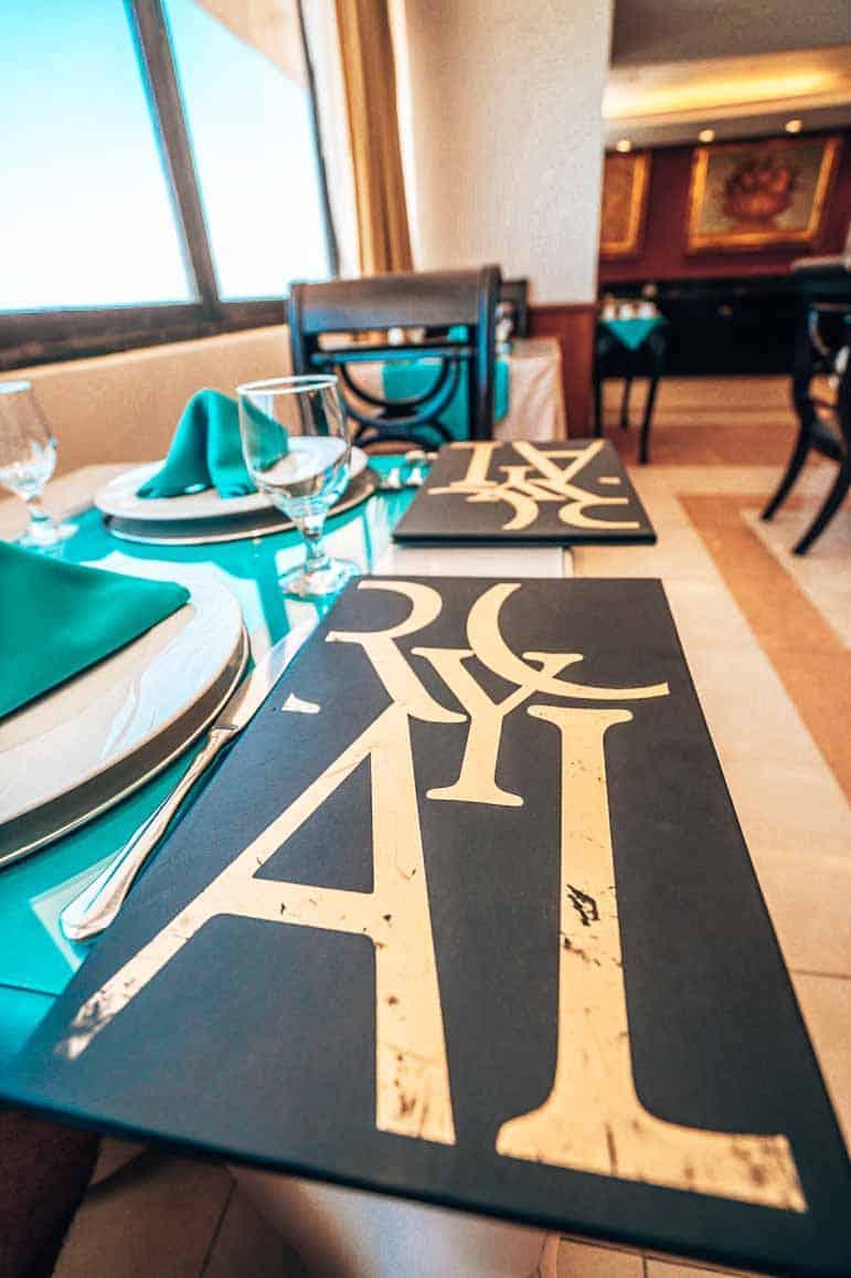 Dining at Barcelo Aruba - royal lounge