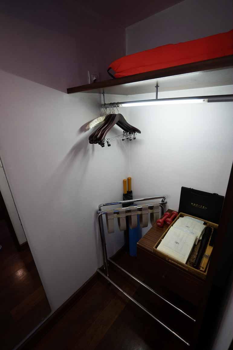 Closet in Bungalow at Sofitel Moorea