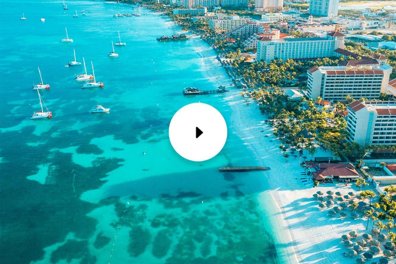 barcelo aruba drone view