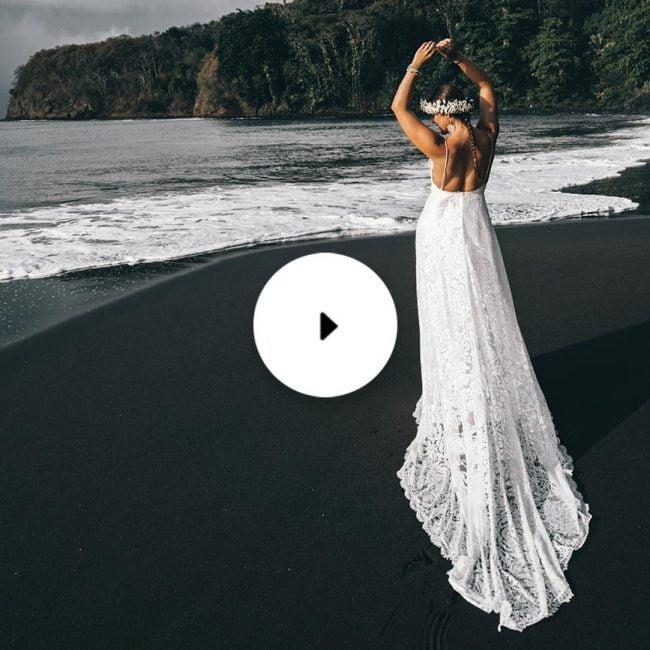 tahiti pearl video bride on beach