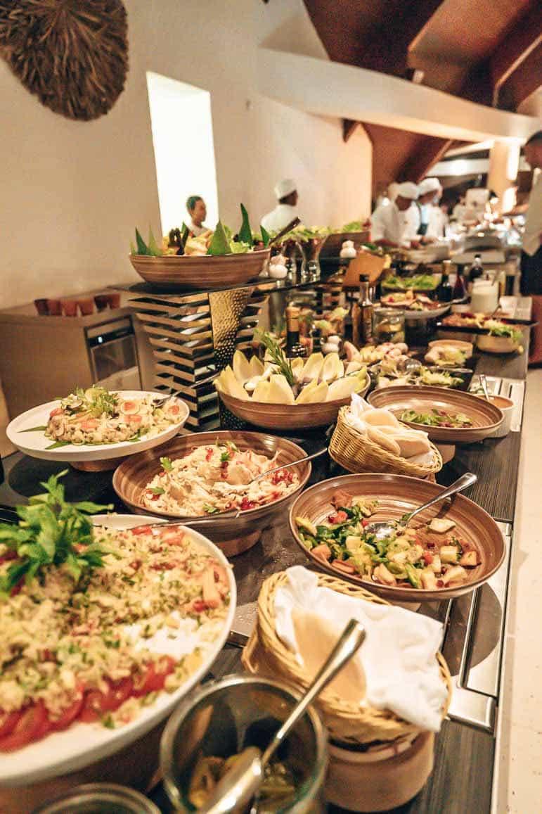 christmas buffet at The Residence Maldives