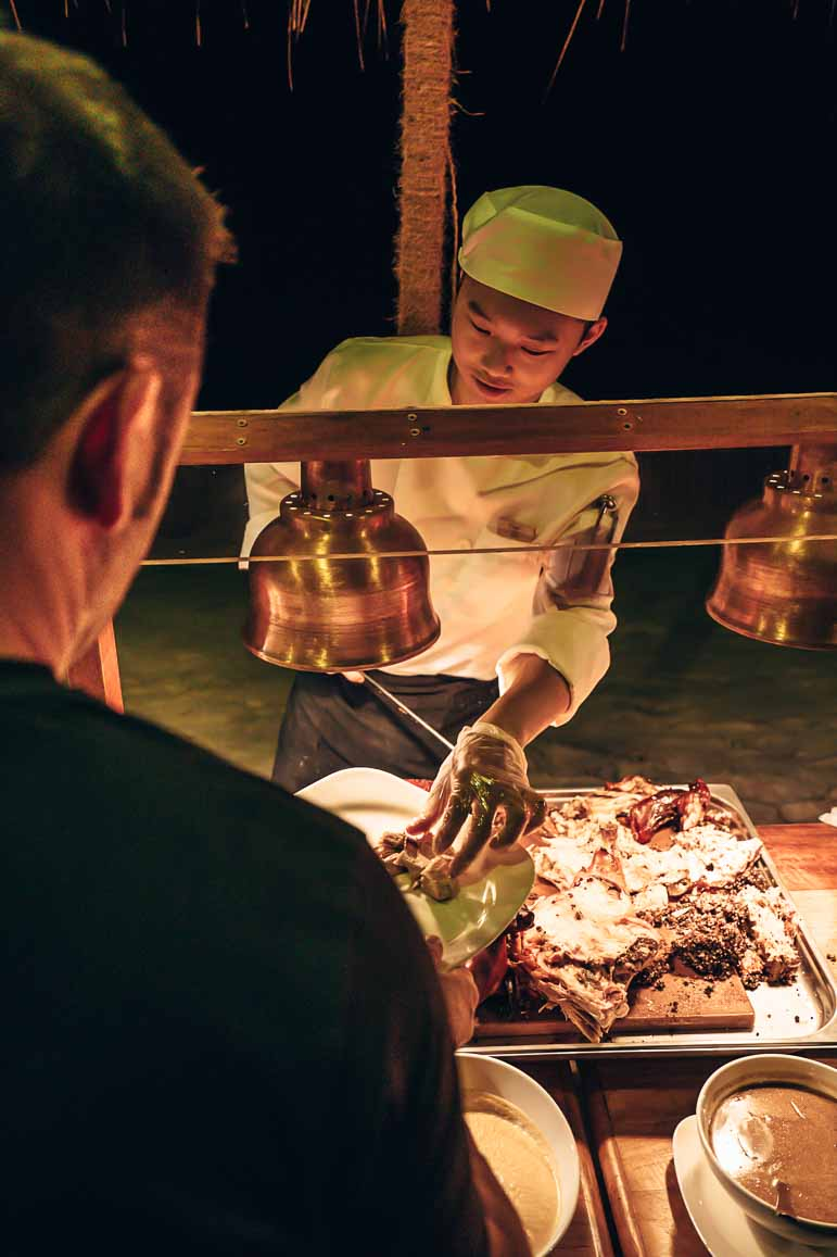 christmas dinner at The Residence Maldives