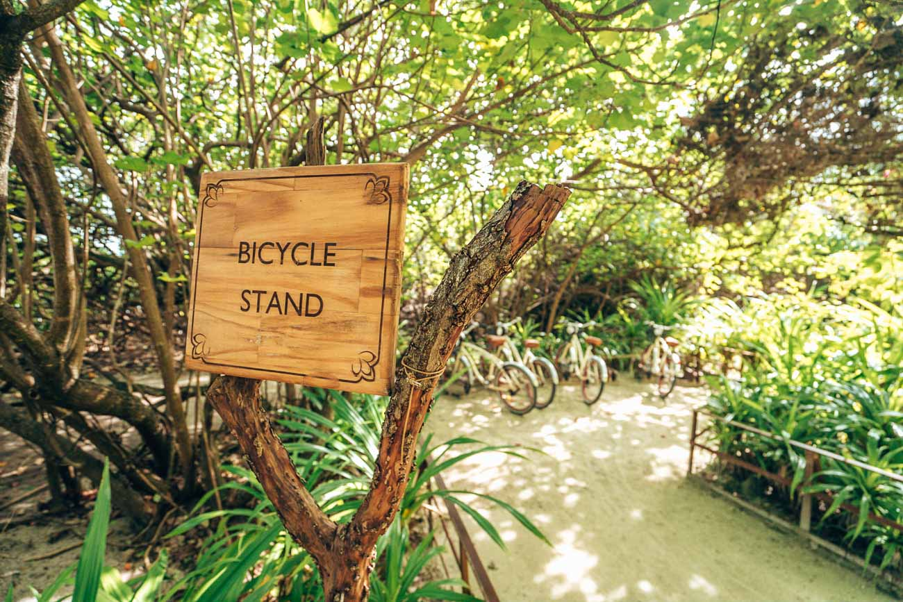 Bike stand at The Residence Maldives