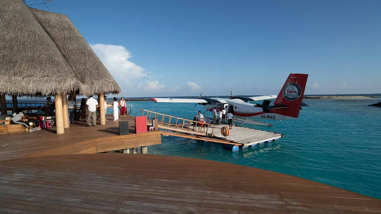 Seaplane dock at Heritance Aarah