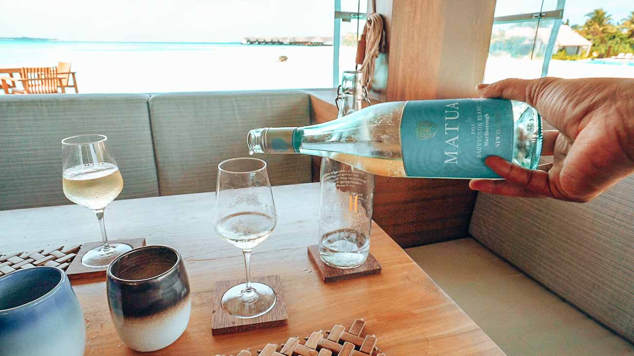 Dining at Heritance aarah - wine options