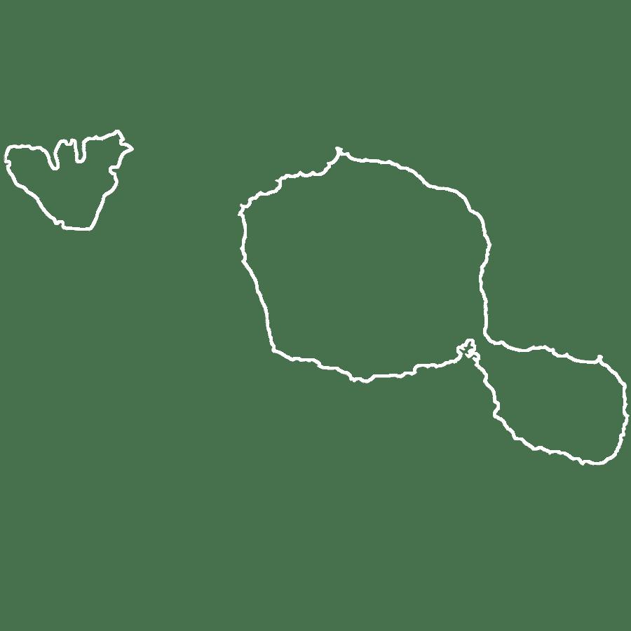 map of tahiti white silhouette