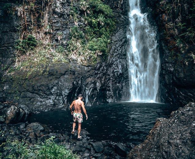 tahiti waterfall