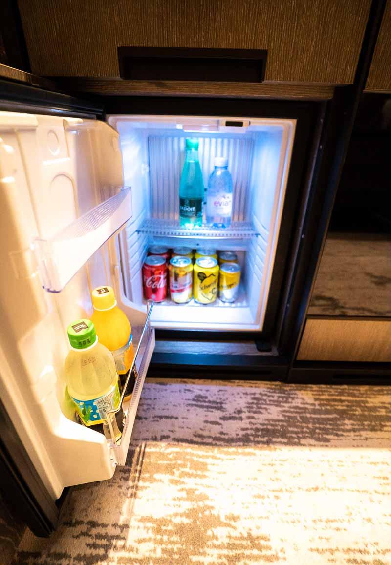 Hyatt Centric Hong Kong King Suite minibar