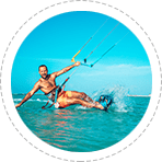 kiteboarding in aruba