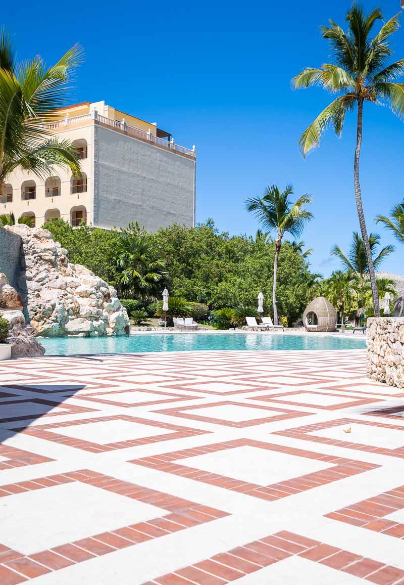 pool area in all inclusive hotel