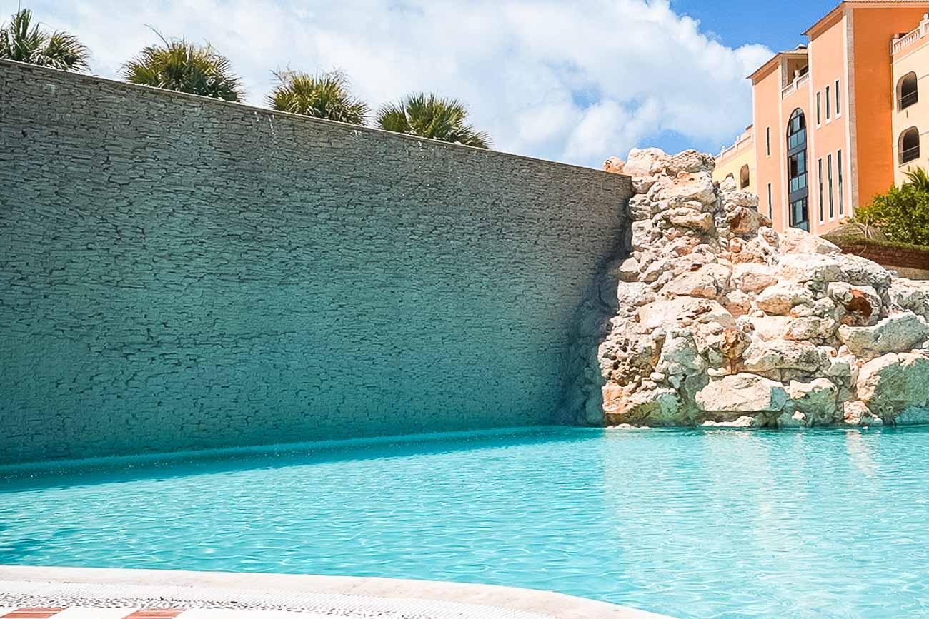 waterfall pool sanctuary cap cana