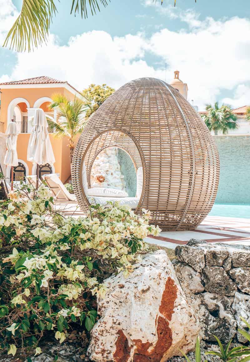 beautiful decor pool area hotel