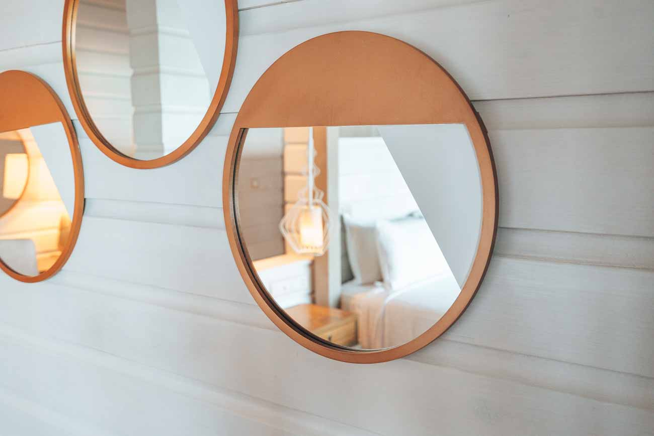 large mirrors in hotel suite