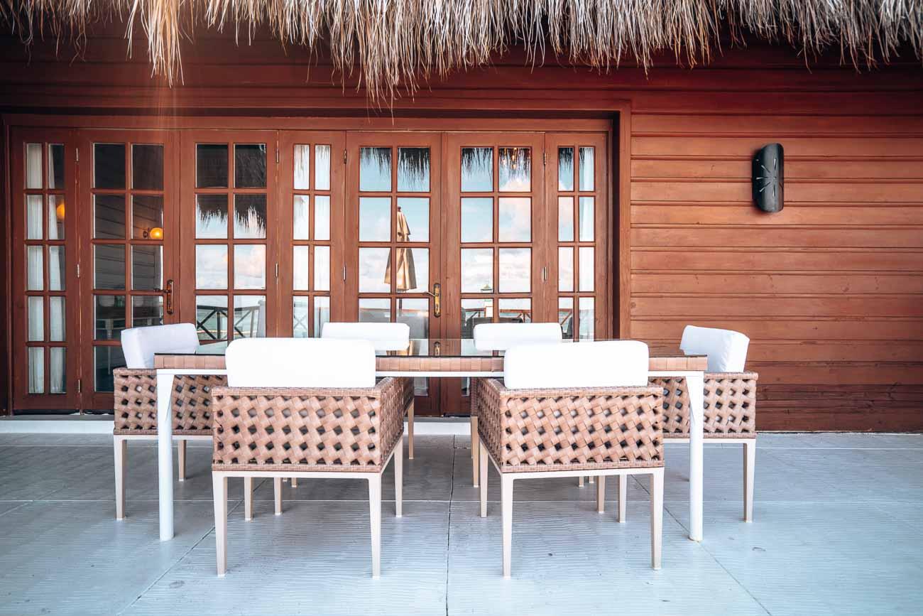 beautiful patio in hotel suite