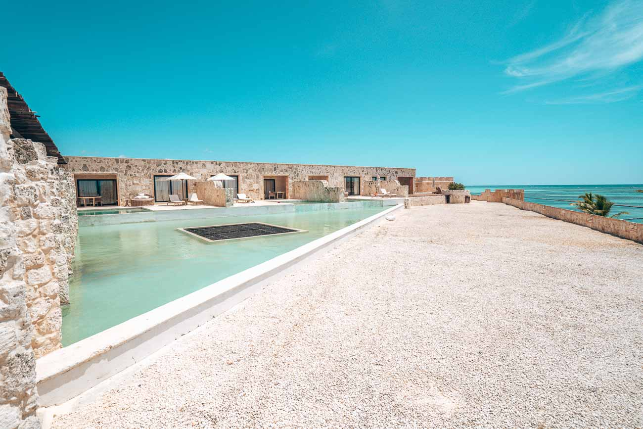 pool suites on top of the castle