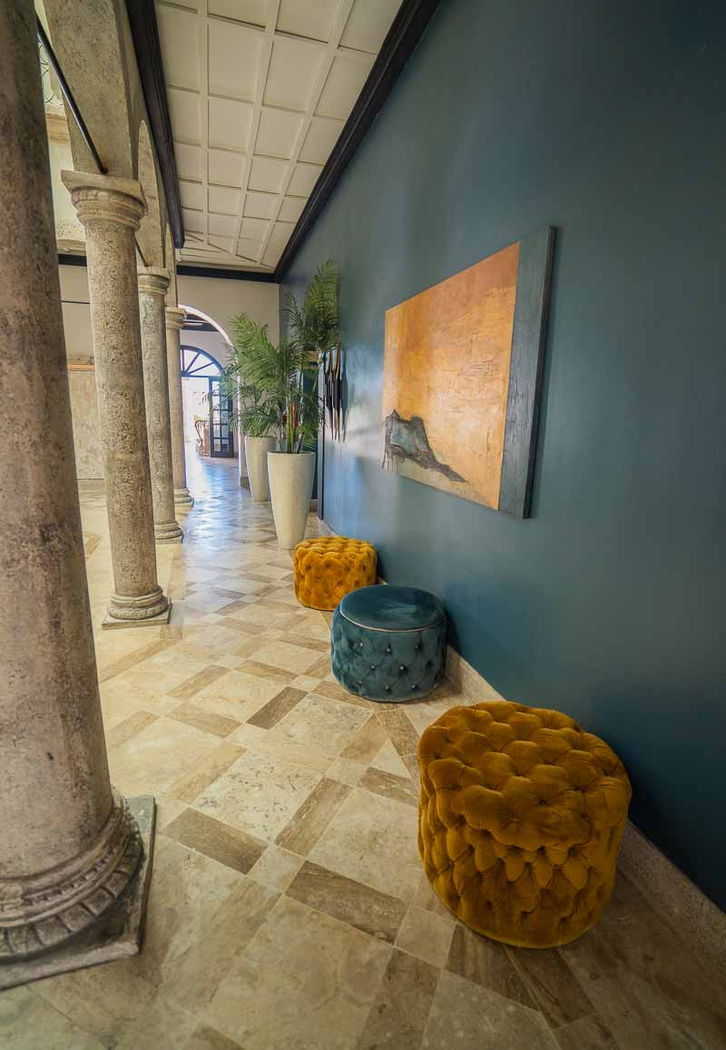 lobby stylish poofs