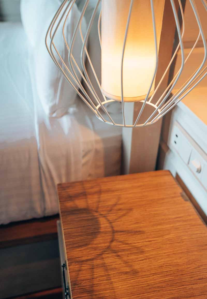 lighting in hotel suite
