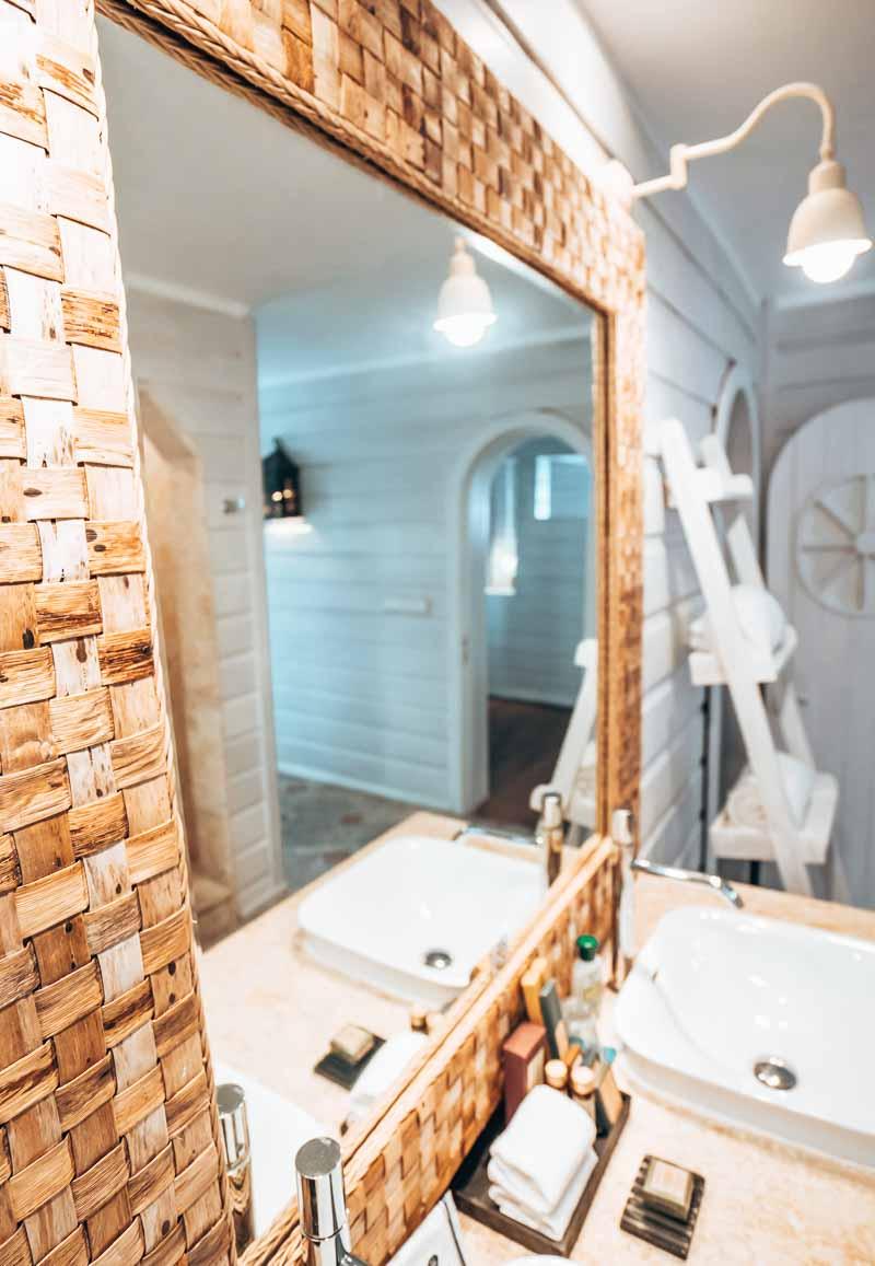 hotel suite bathroom mirror beach chic