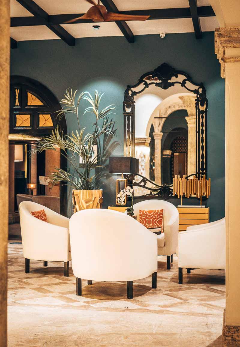 nighttime hotel lobby chairs sanctuary cap cana