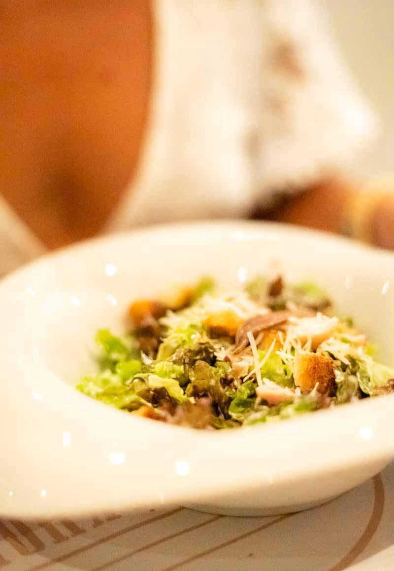 caeser salad in bowl