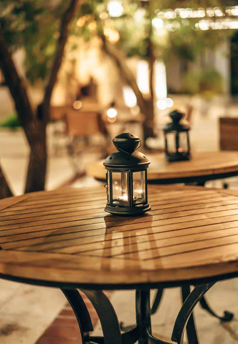 beautiful outdoor tables