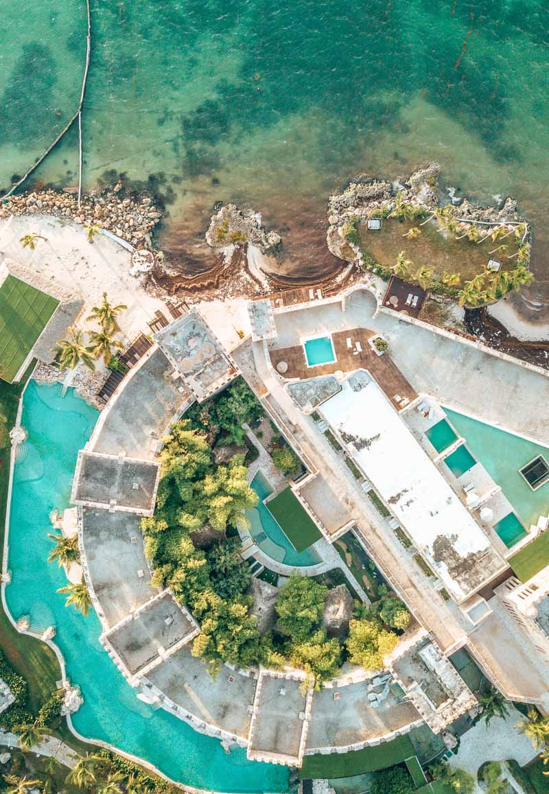 sanctuary cap cana castle pool