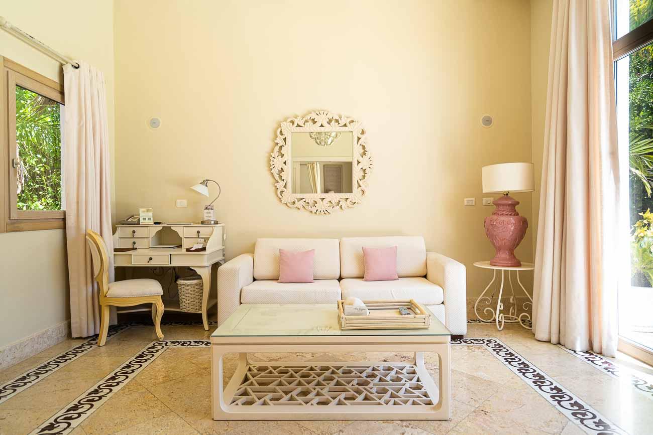 beautiful living room in hotel villa