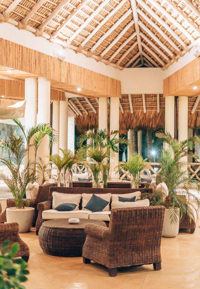 Eden Roc Cap Cana lobby at night