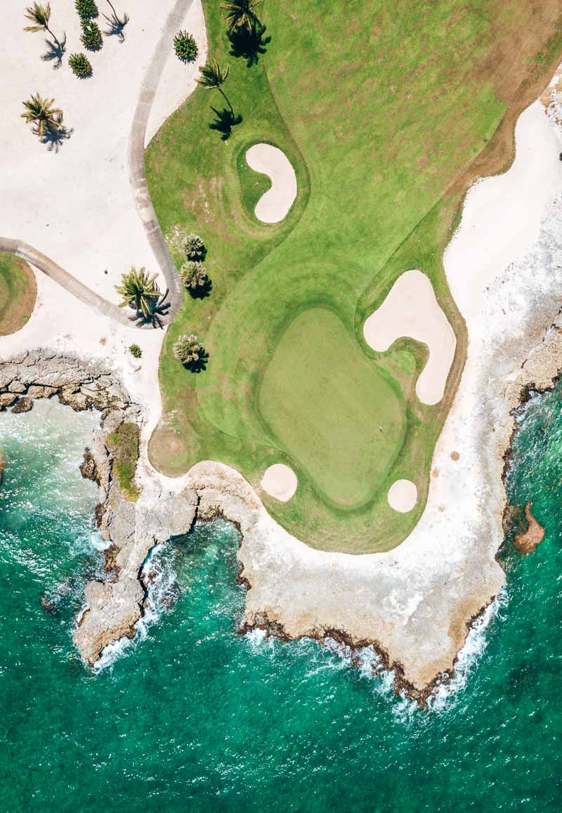 Golf course from above