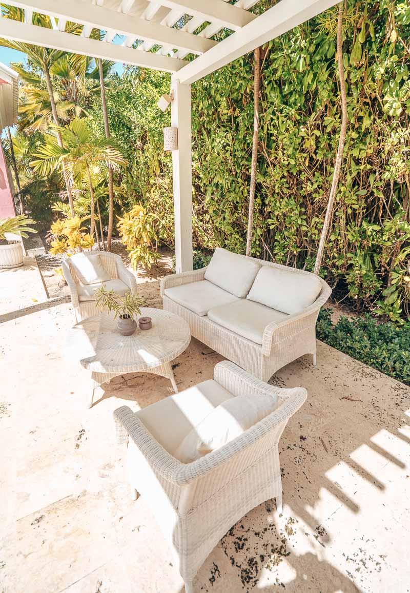 outdoor living in private villa