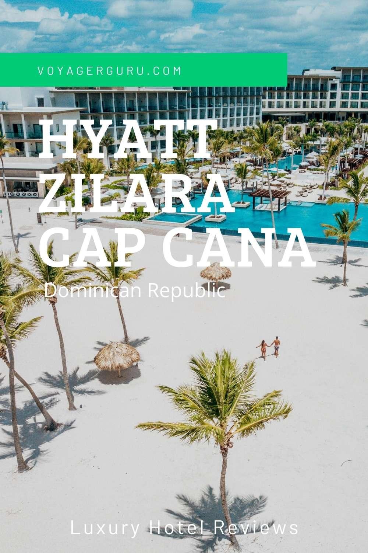 Pinterest Pin for Hyatt Zilara Cap Cana Drone Image
