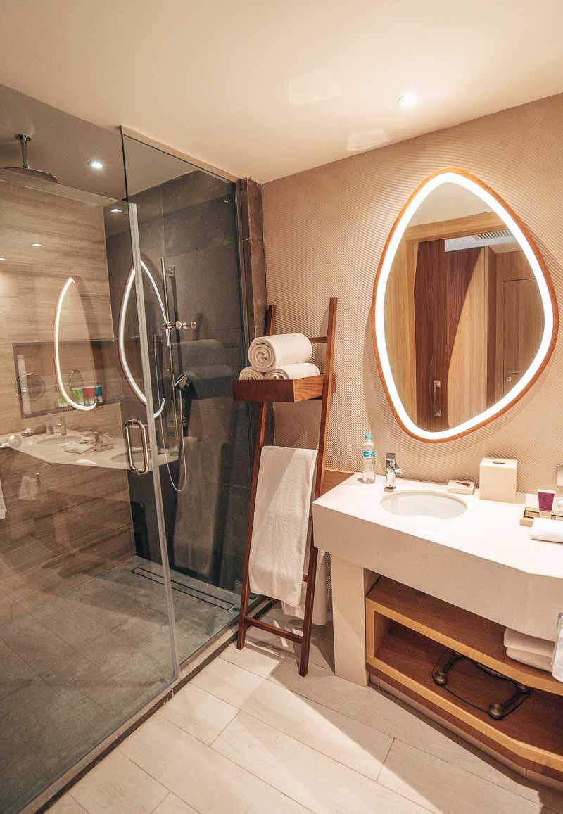 funky hotel suite bathroom