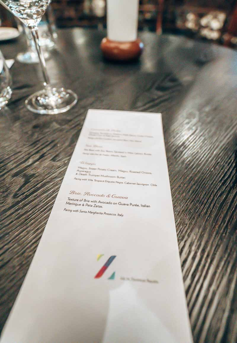private dining menu