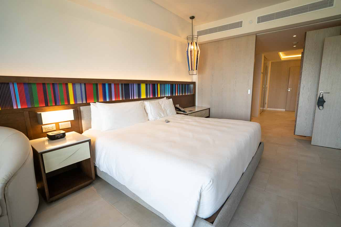 king bed at hotel suite