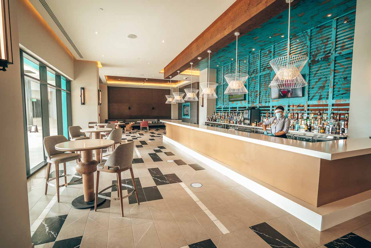 lobby lounge at hotel