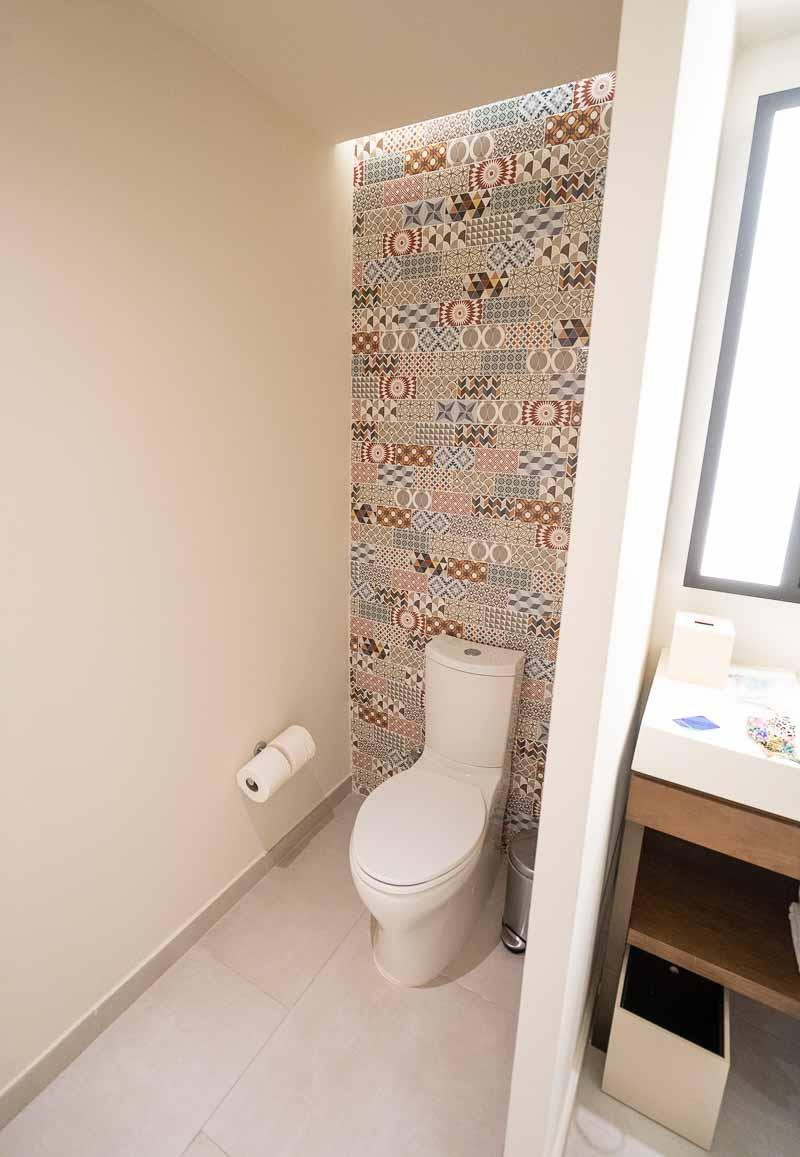 bathroom tiling in hotel
