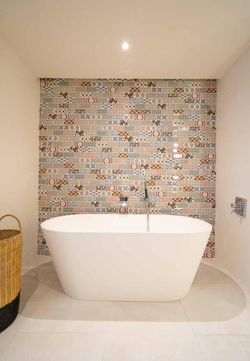 bathtub in hotel suite