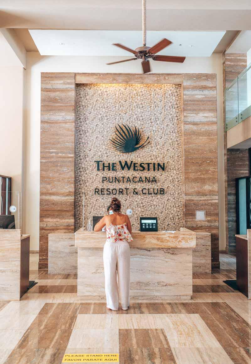 Westin Punta Cana lobby check in