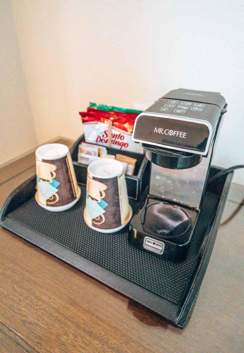 Westin Punta Cana premium king room coffee maker