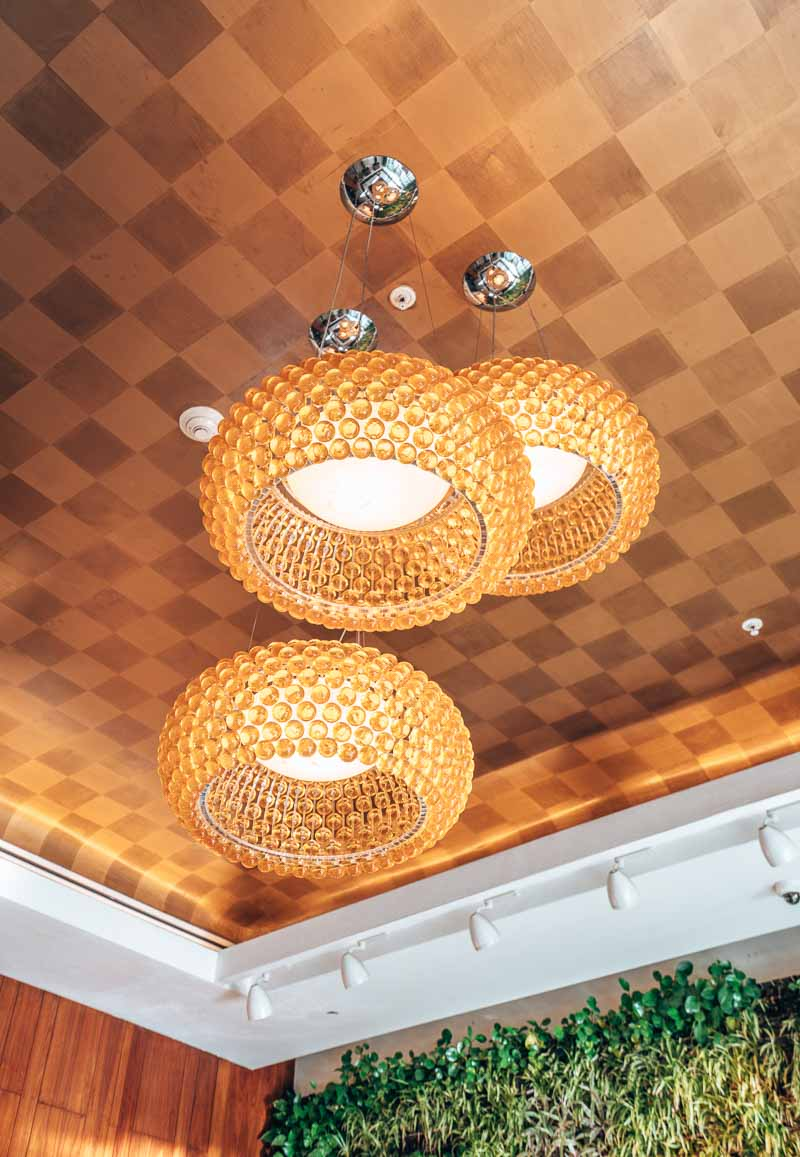 lights in lobby