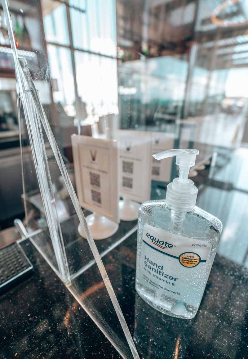 sanitizer dining JW Marriott Santo Domingo covid-19