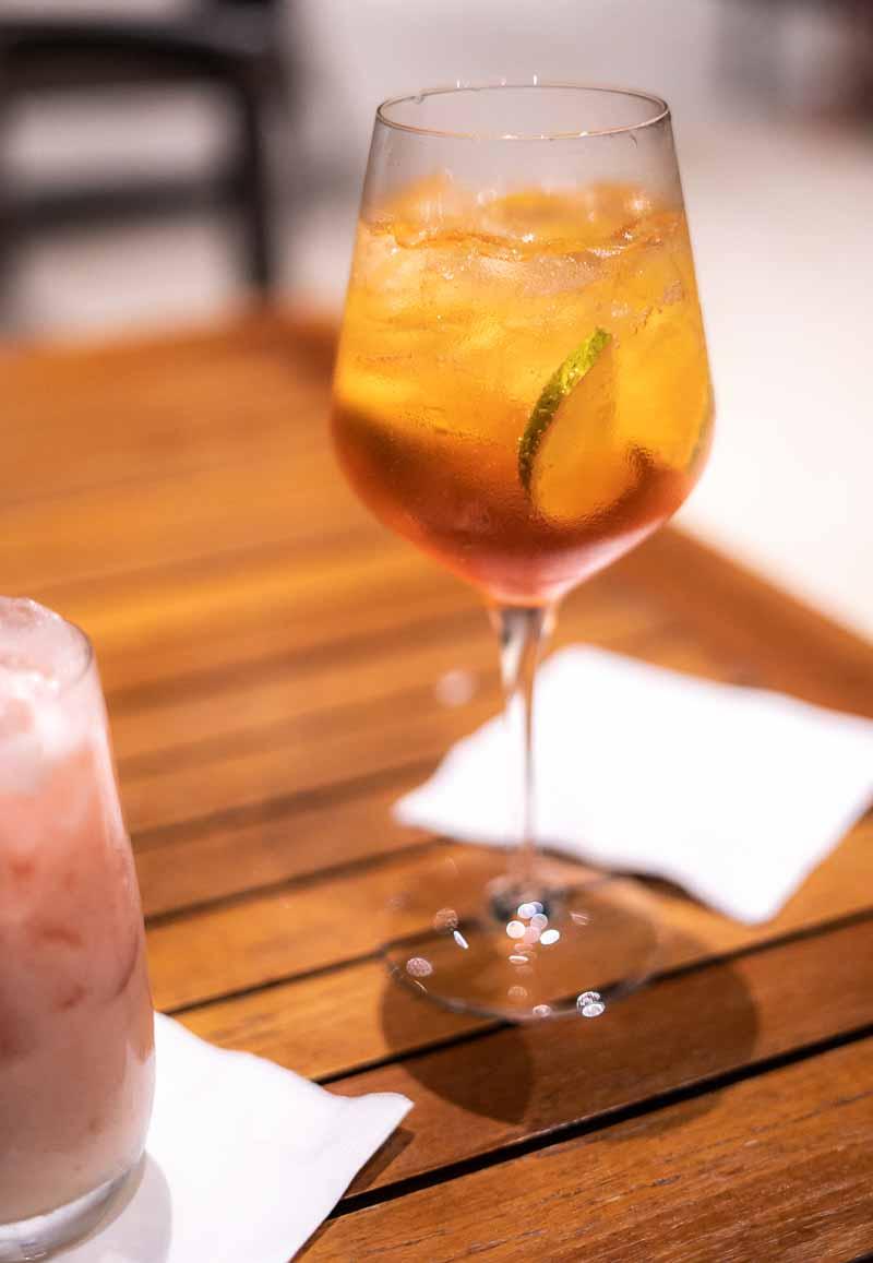 aperol spritz dining JW Marriott Santo Domingo